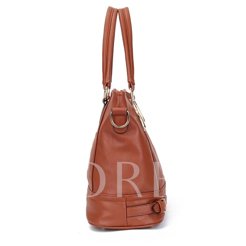 Casual Double Zipper Design Women Tote