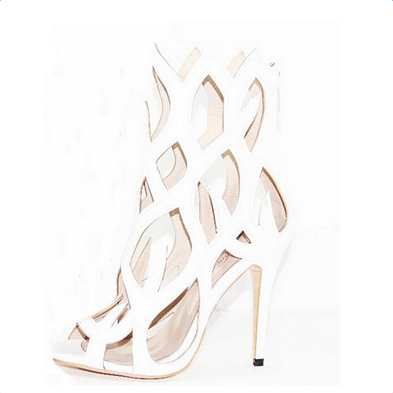 Fire Shaped Cut-out Women's Party Sandals (Plus Size Available)