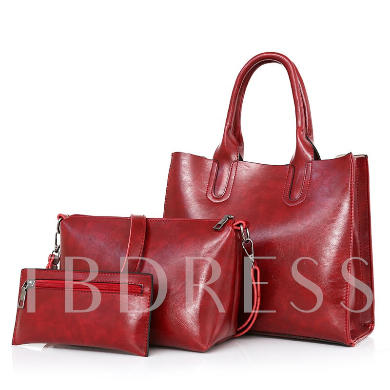 Casual High-Capacity Solid Color Tote Bag