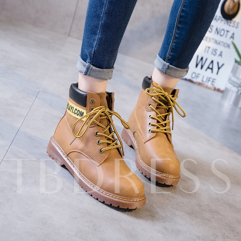 Durable Booties Lace-Up Front Men's Martin Shoes