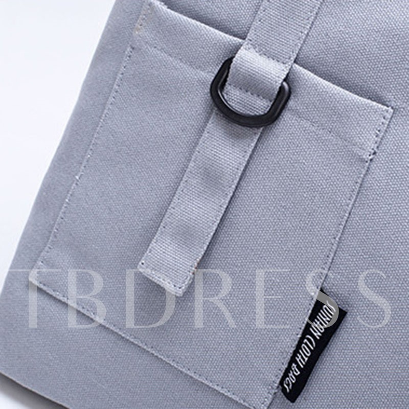 Casual Patchwork Canvas Shoulder Bag