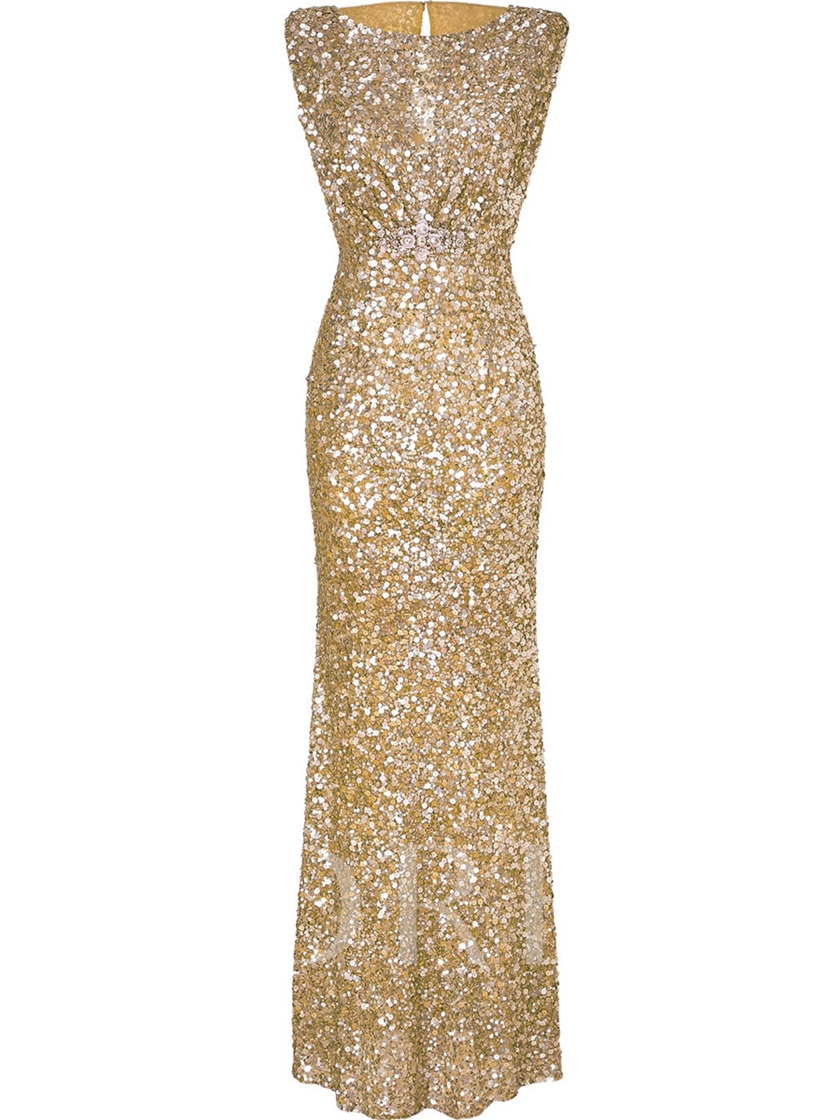 Sleeveless Sequins Women's Maxi Dress