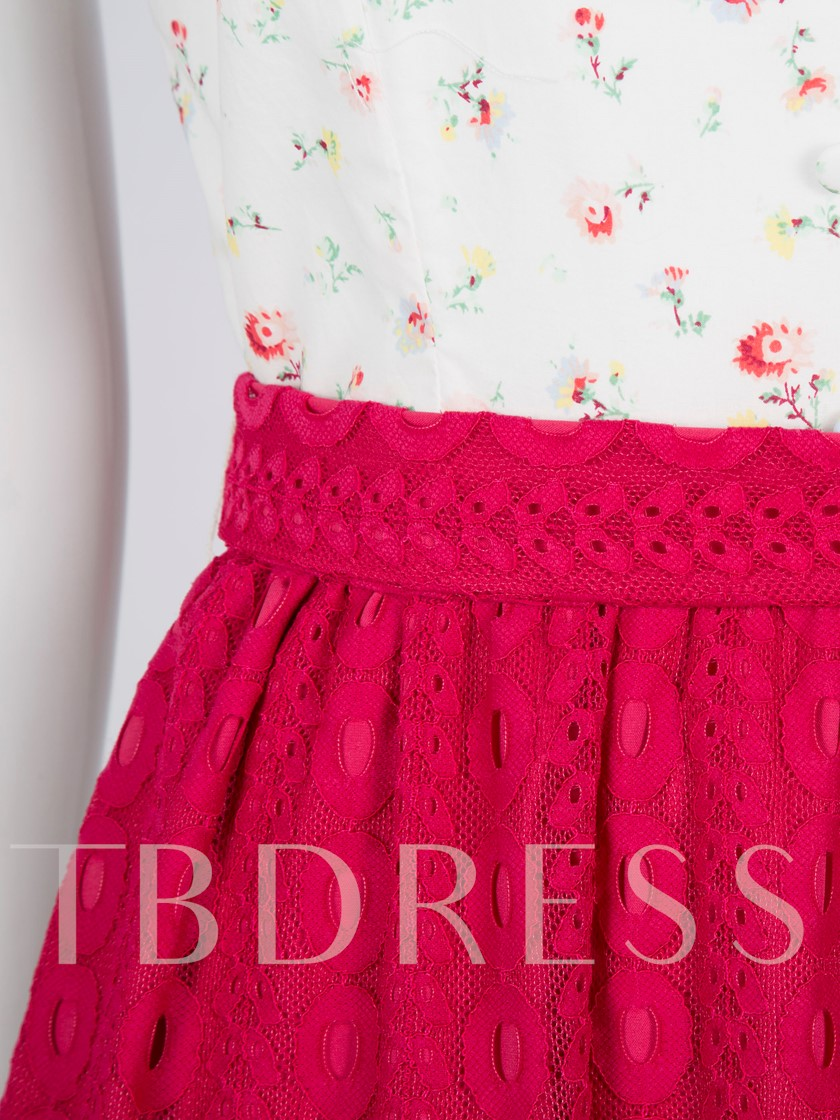Printing Double-Layered Women's Day Dress