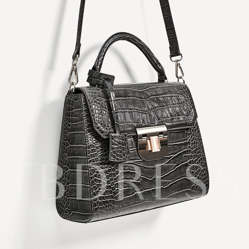 Occident Style Crocodile Print Cross Body Bag