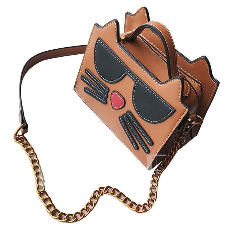 Personality Cartoon Cat Pattern Cross Body Bag
