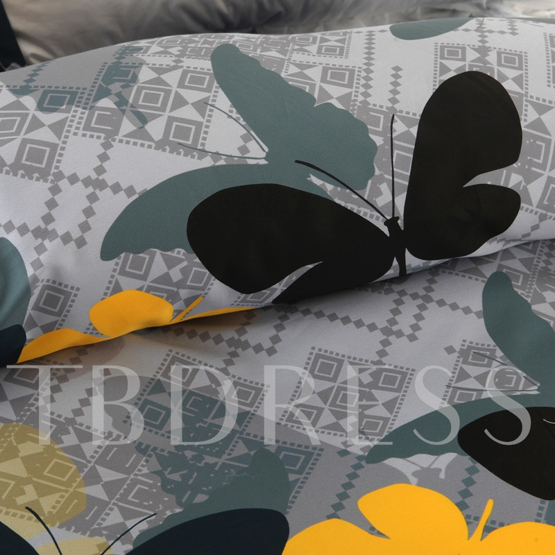 Butterfly Animal Casual Duvet Cover Set/4 Piece Bedding Set