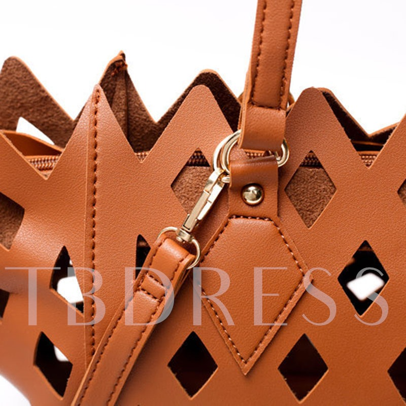 Occident Style Hollow Carved Design Women Tote