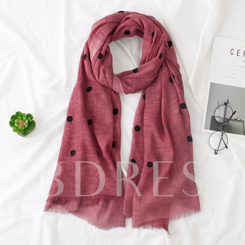 Cotton Linen Wave Point Tie-Dye Scarfs