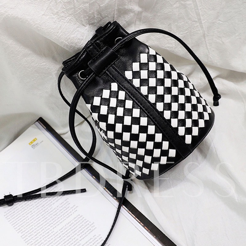 Vintage Plaid Pattern Cross Body Bag