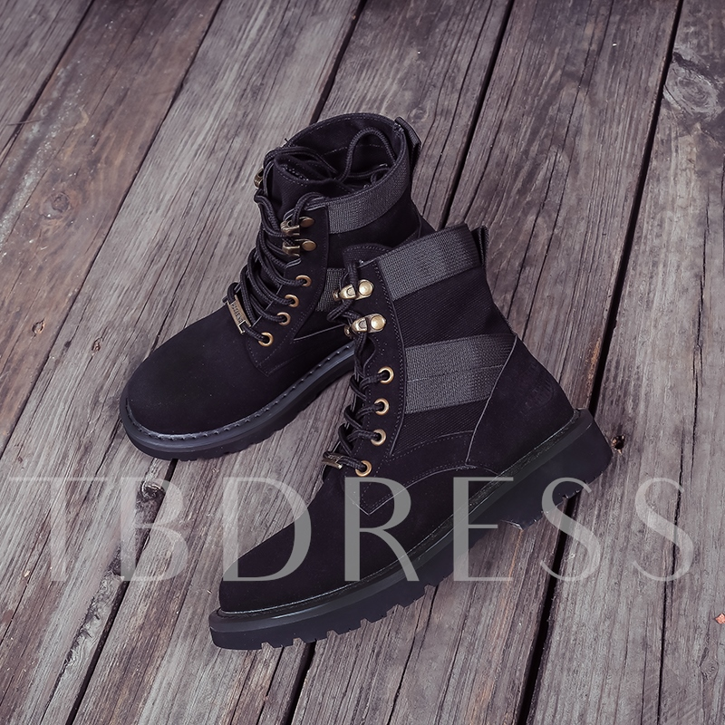 Durable Ankle Boots Block Lace-Up Women's Martin Shoes