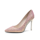 Glitter Slip-On High Heel Sweet Dress Shoes