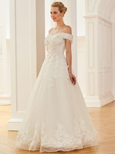 Beaded Off the Shoulder Appliques Wedding Dress