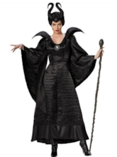 Hallowmas Black Long Sleeves Women's Witch Costume