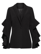 Falbala Patchwork Shawl Collar Women's Blazer