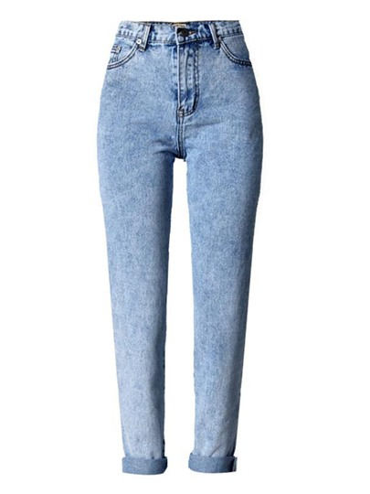 Straight Ankle Length Pocket Women's Jeans