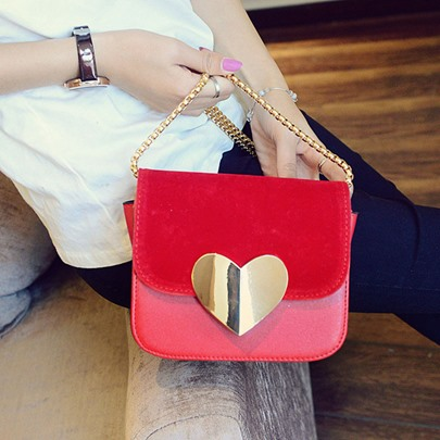 Personality Heart-Shaped Patchwork Cross Body