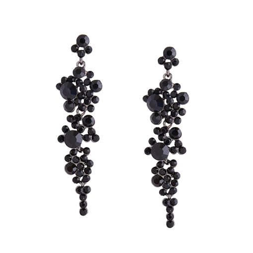 Grape Shape Balls Long Tassel Earrings