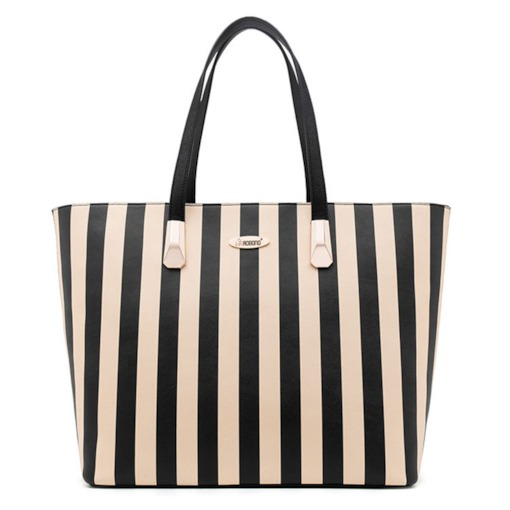 Well-Match Stripe Pattern Cross Body Bag