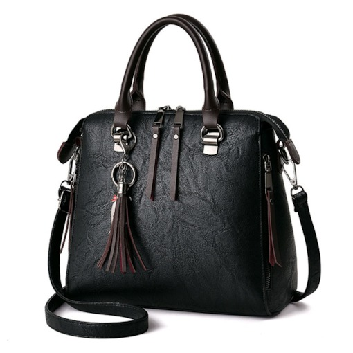 Occident Style Tassel Solid Color Tote