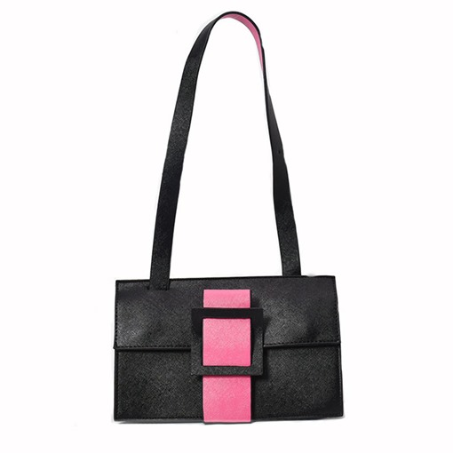 Fashion Two-Sided Color Block Cross Body Bag