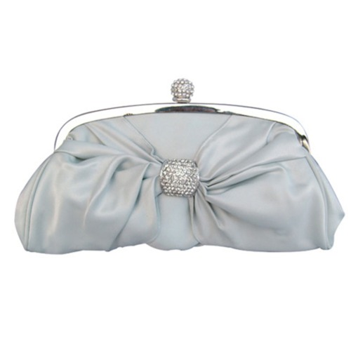 Bowknot Rhinestone Adornment Chain Clutch