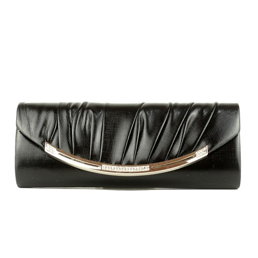 Simple Pleated Rhinestone Decoration Clutch