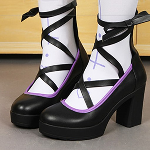 Halloween Party Witch Shoes Chunky Heel Platform Pumps for Women