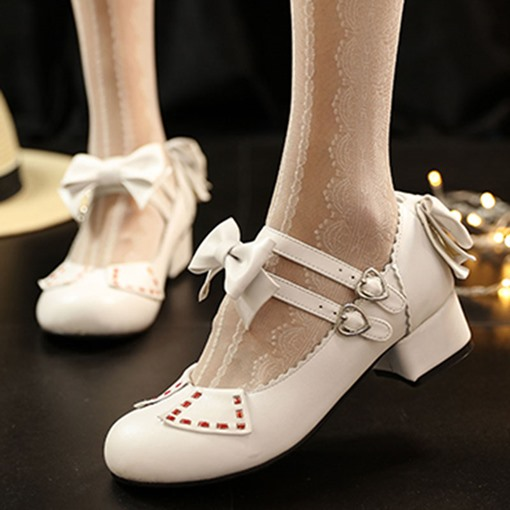 Halloween Shoes Lolita Bow Women's Pumps