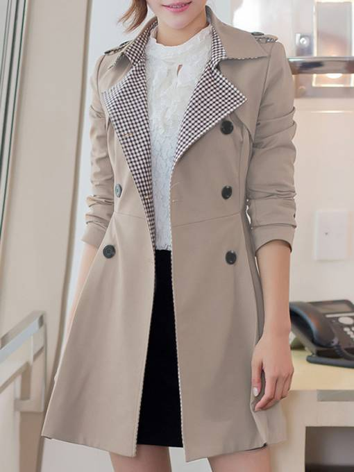 England Double Button Lapel Women's Trench Coat