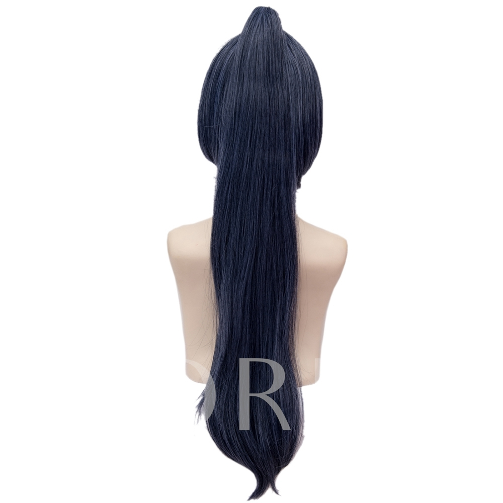Onmyouji Dark Blue Straight Synthetic Hair Capless Cosplay Wig Halloween 26 Inches