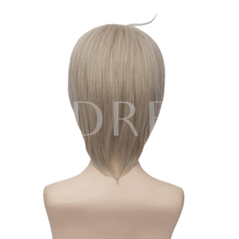 Onmyouji Natural Straight Silver Gray Purple Synthetic Capless Halloween 12 Inches