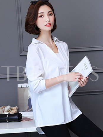 Sexy V-Neck Lace Hollow Backless Women's Shirt