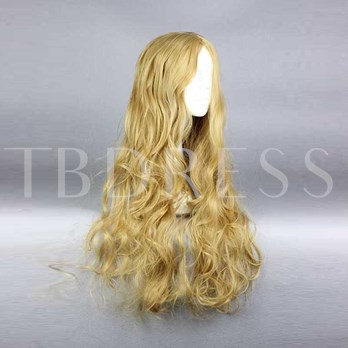 Super Jerry Curly Blonde Synthetic Hair Cosplay Wigs Capless Halloween 18 Inches