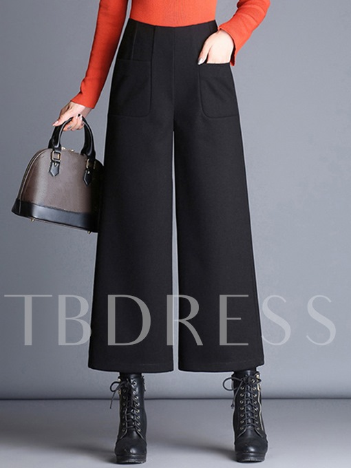 High-Waist Wide Legs Ankle-Length Women's Pants