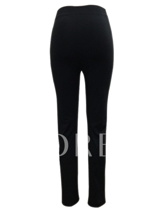 Lace-Up High Waisted Hollow Women's Pants