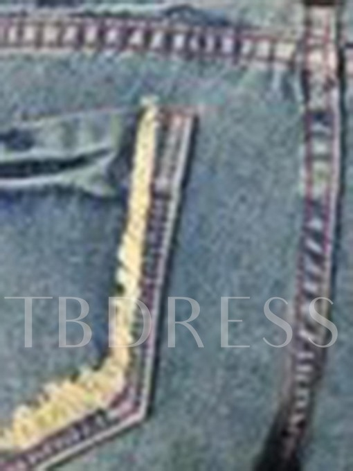 Wide Legs Floral Embroidery Vintage Women's Jeans