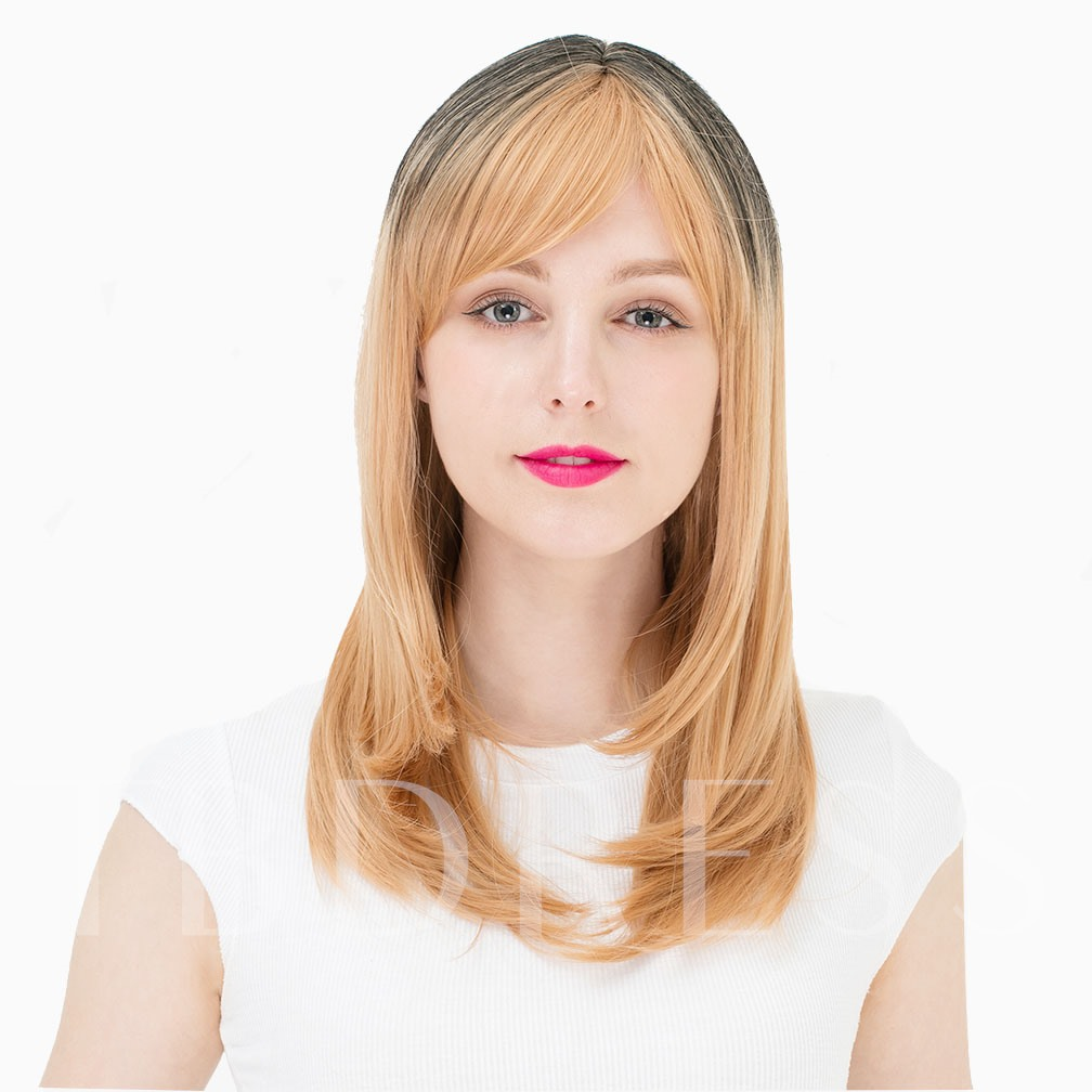 Mixed Blonde Straight Synthetic Hair Capless Cosplay Wigs 24 inches (Average)