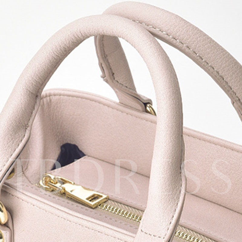 Occident Style Solid Color Female Tote