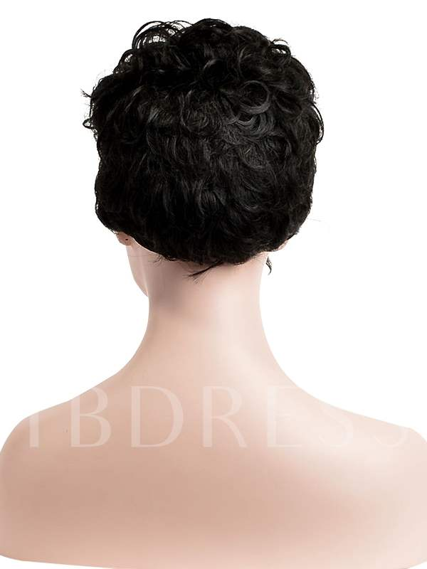 Hot Pixie Curly Synthetic Hair Capless Cap Wigs 8 Inches (Average)