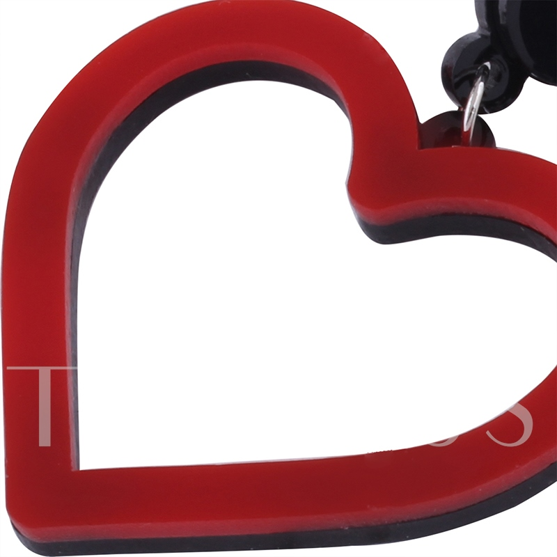 Heart Shape Hollow Alloy Lovely Korean Drop Acrylic Earrings