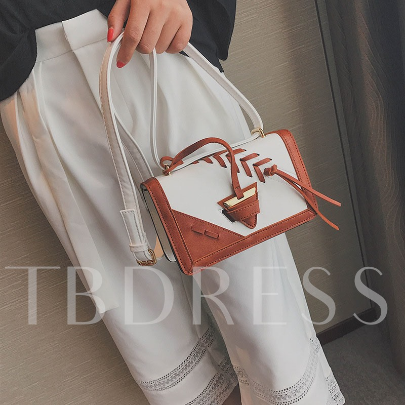 Occident Style Color Block Cross Body Bag