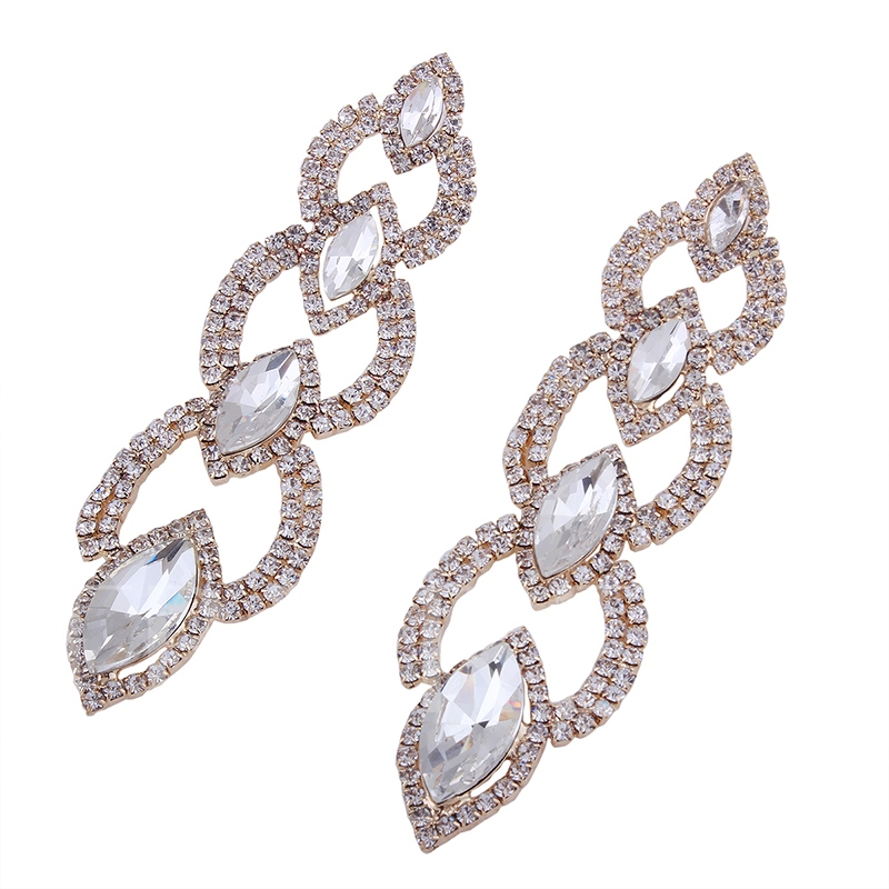 Marquise Ruby-Shaped Full Drill Charming Earrings
