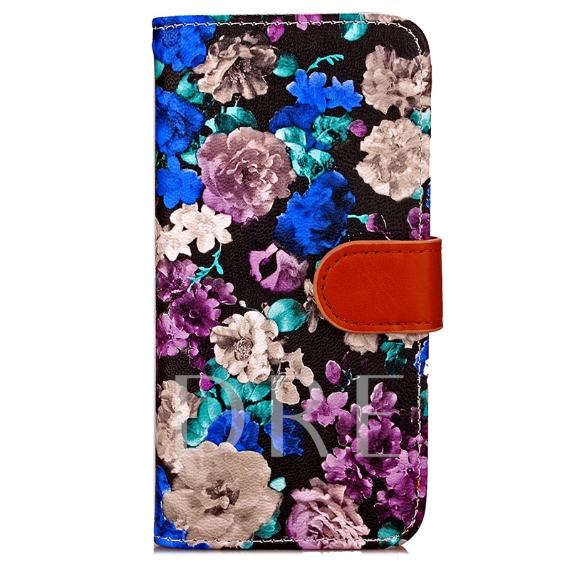 iPhone 8/8 Plus Case Wallet,Floral Pattern Phone Shell with Stand
