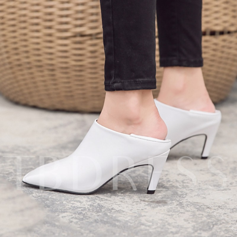 Square Aplati Toe Stiletto Heel Pure Colour Ankle Boots for Women