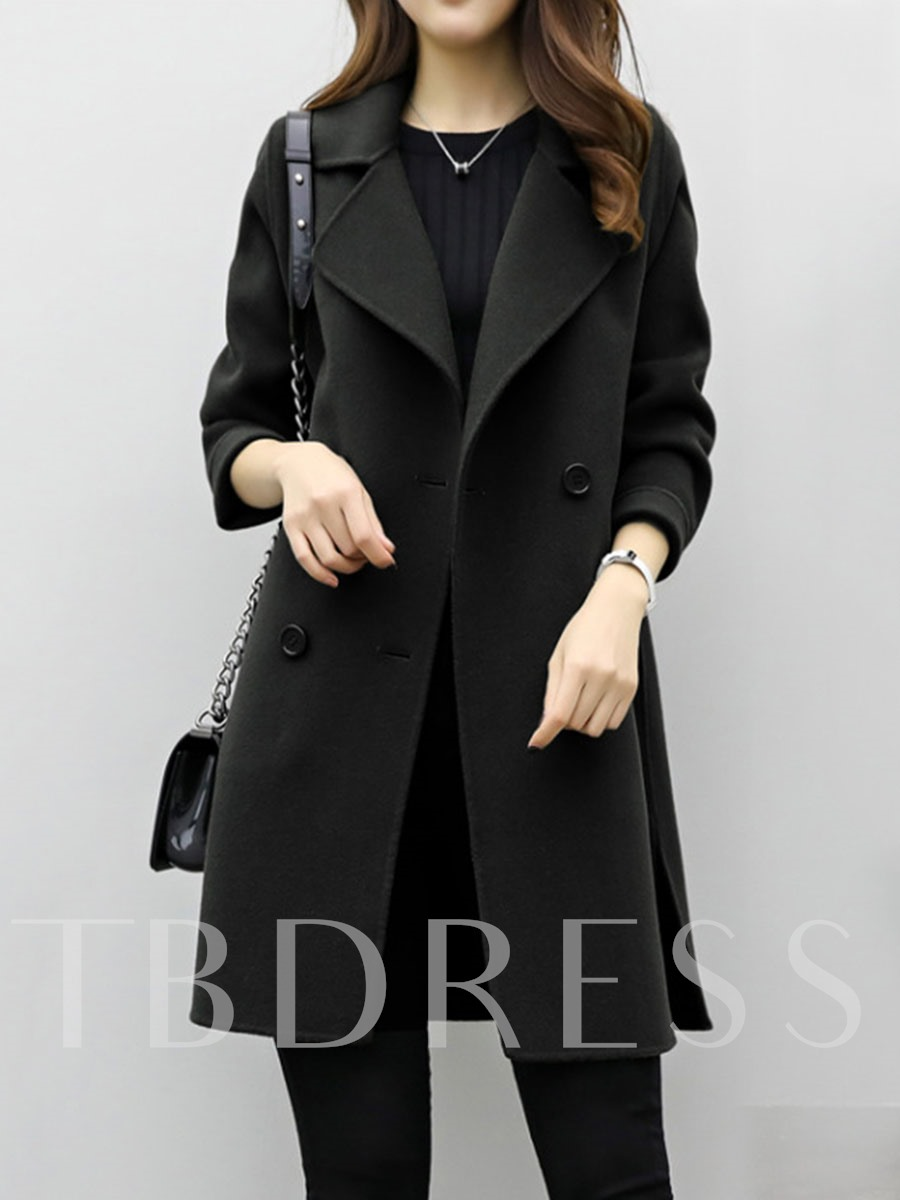 Buy Double-Breasted Fleece Solid Outer Coat Women's Winter Overcoat, Spring,Fall,Winter, 13008738 for $36.99 in TBDress store