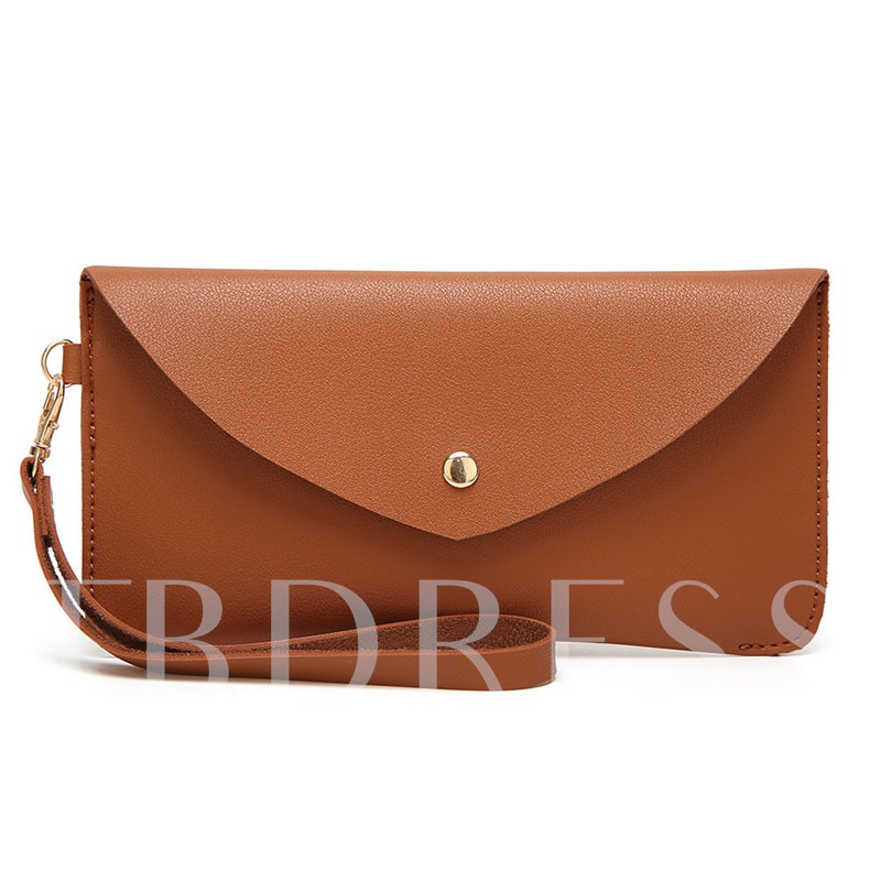 Simplicity Solid Color Magnetic Snap PU Purse