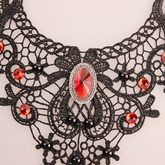 alliage en dentelle en strass vintage lien chain halloween necklace