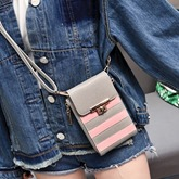 Vintage Stripe Pattern Cellphone Bag