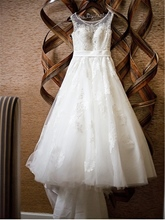 Appliques Beading Plus Size Wedding Dress