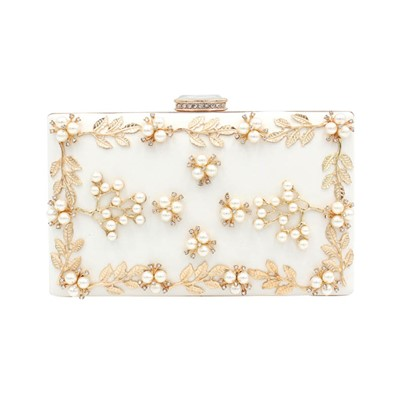 Luxury Handmade Applique Latch Evening Clutch